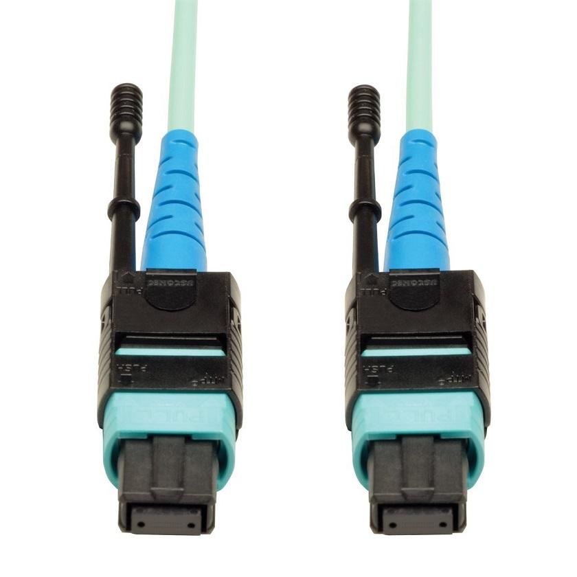 Tripp Lite N846-02M-24-P MTP/MPO Patch Cable 100GBASE-SR10 Cxp 24 Fiber 100GbE OM3 6ft