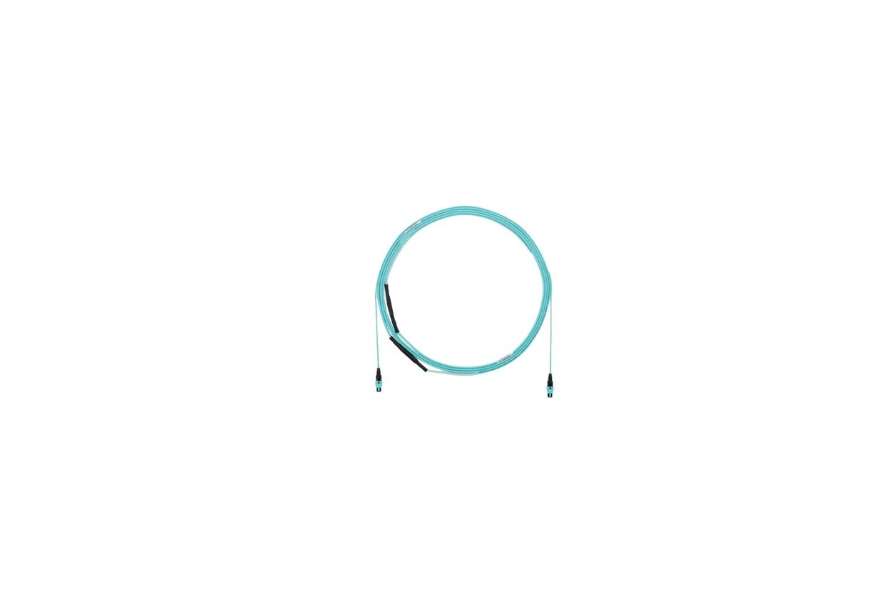 Panduit FZTYP7575YAF030 12-Fiber OM4 HD Flex Indoor Small Diameter Cable 30ft