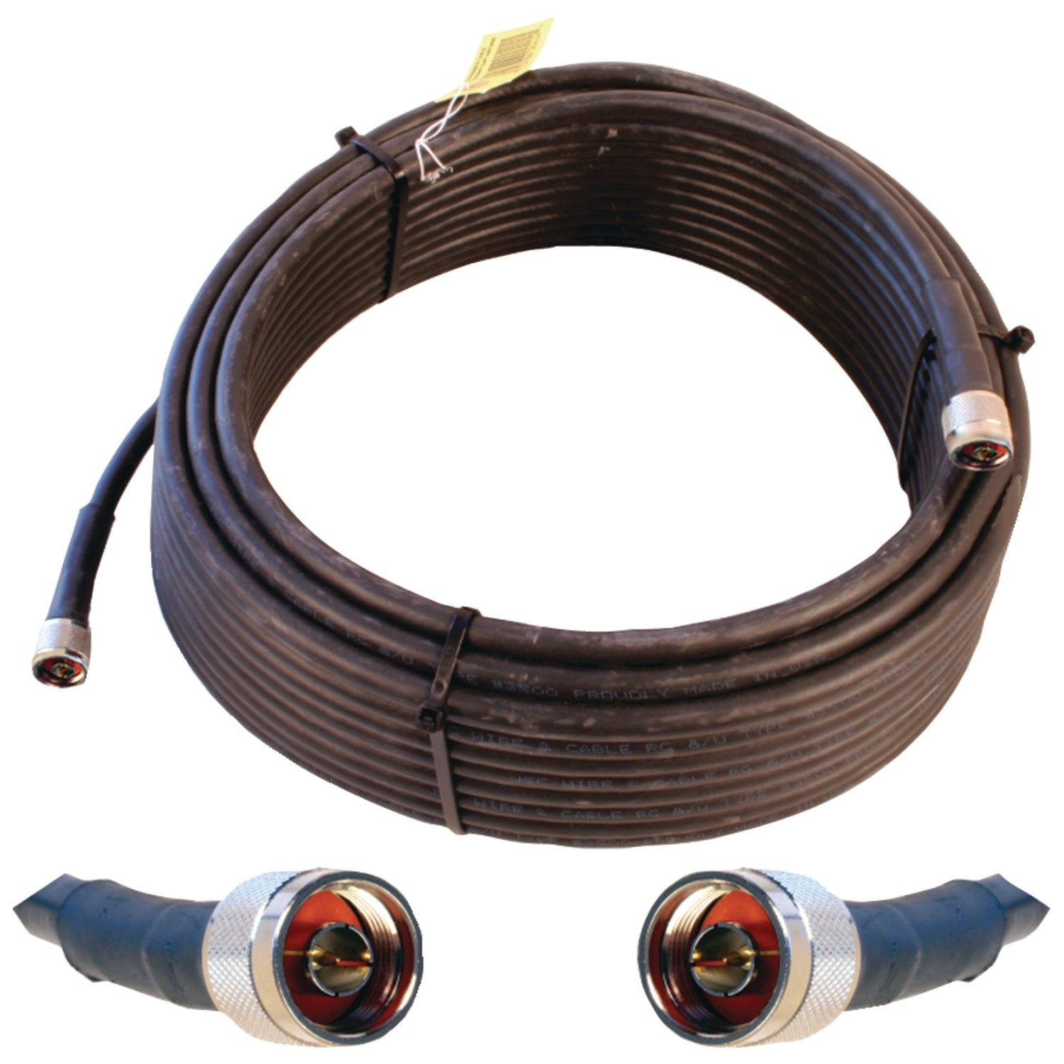 Wilson WILSON-400 Ultra Low Loss Coax Cable N-Male To N-Male 75ft Black Cable 952375