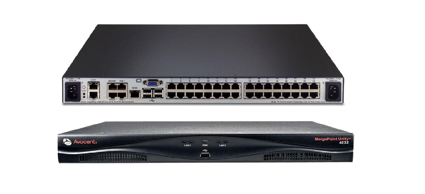 Avocent Mergepoint 4032DAC 32-Ports Unity Over IP Serial Console 1U KVM Switch MPU4032DAC-001
