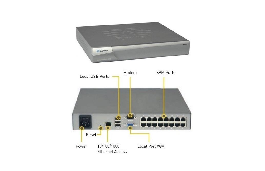 Raritan Dominion DLX-216 16-Ports KVM-over-IP Kvm Switch 1U Rack-Mountable