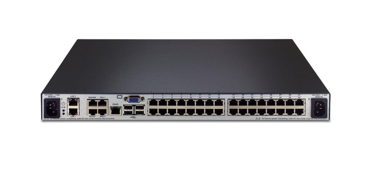 Emerson Network Avocent Mergepoint Unity Over 32-Ports Dual AC Power 1U Ip Kvm Switch MPU2032DAC-001