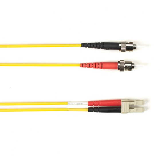 Blackbox FOCMRSM-015M-STLC-YL OS2 9-Micron Single-Mode Fiber Optic Patch Cable Yellow 49.2ft