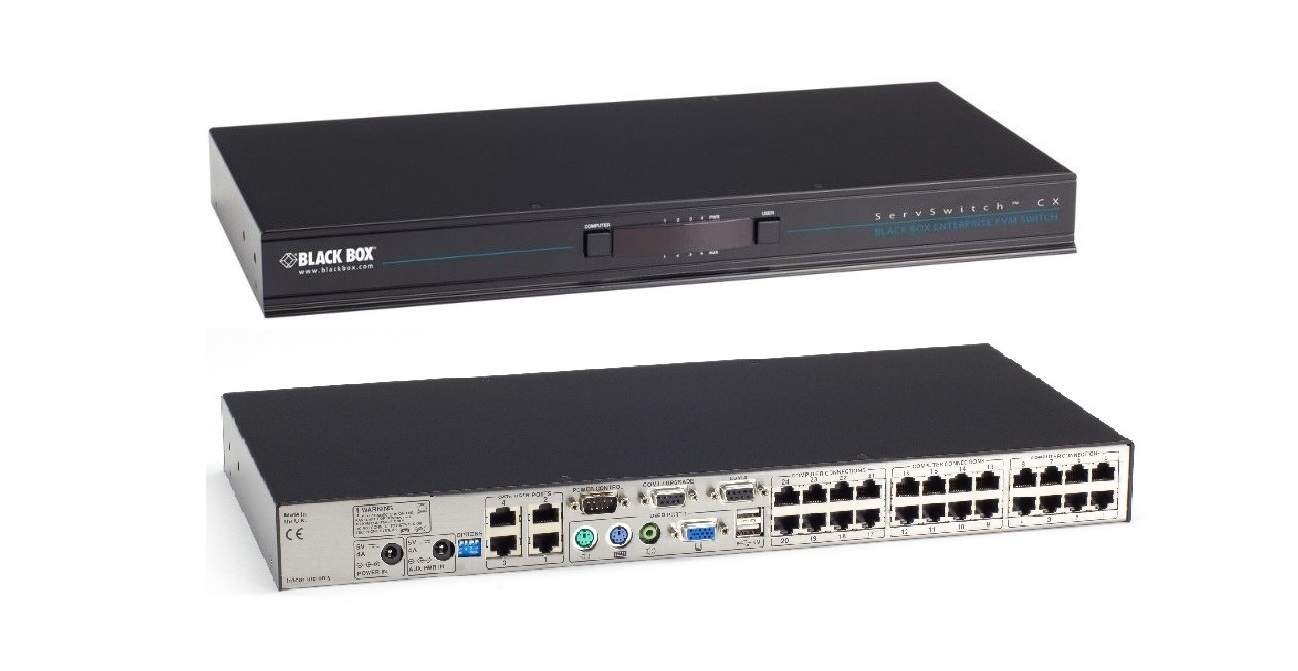 Black Box Servswitch CX 24-Ports KVM Switch KV0424A-R2