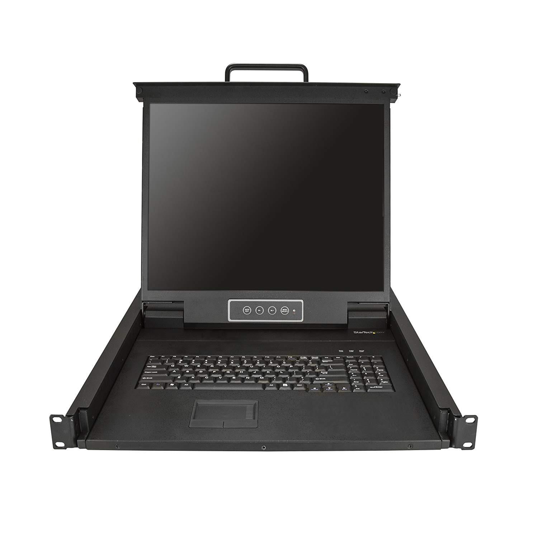 StarTech.com RKCONS1901 1U Single-Port KVM Console For Server Rack