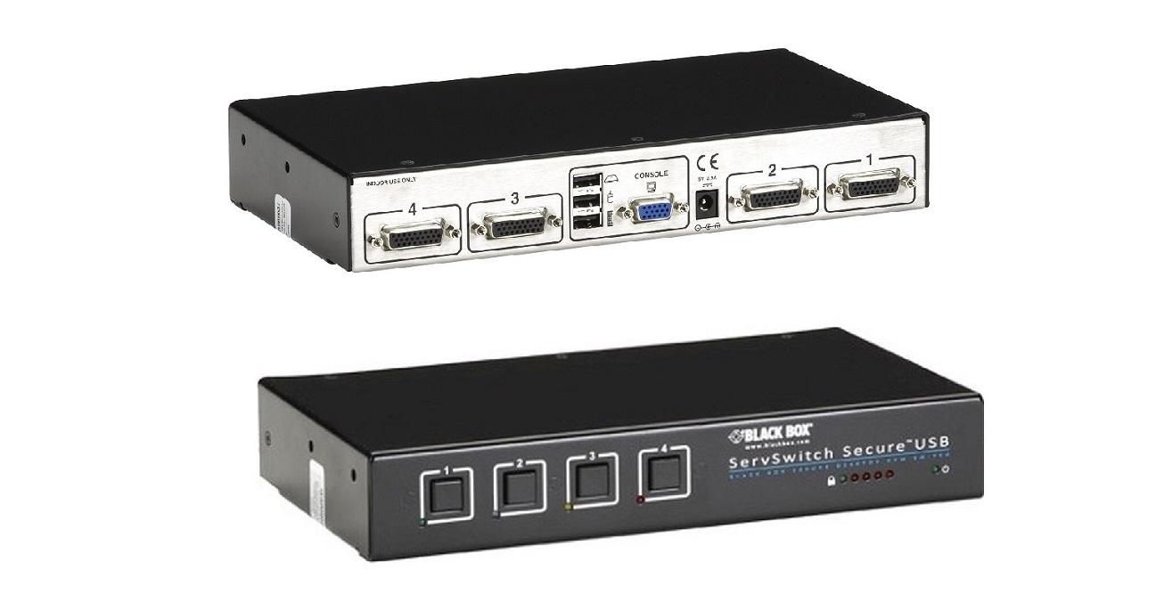 Black Box Servswitch Secure 4-Ports KVM Switch SW4006A-USB-EAL