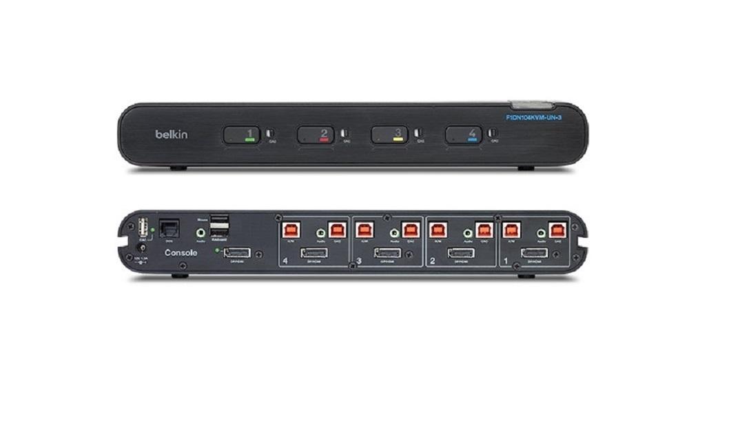 Belkin 4-Ports Universal Secure KVM Switch F1DN104KVM-UN-3