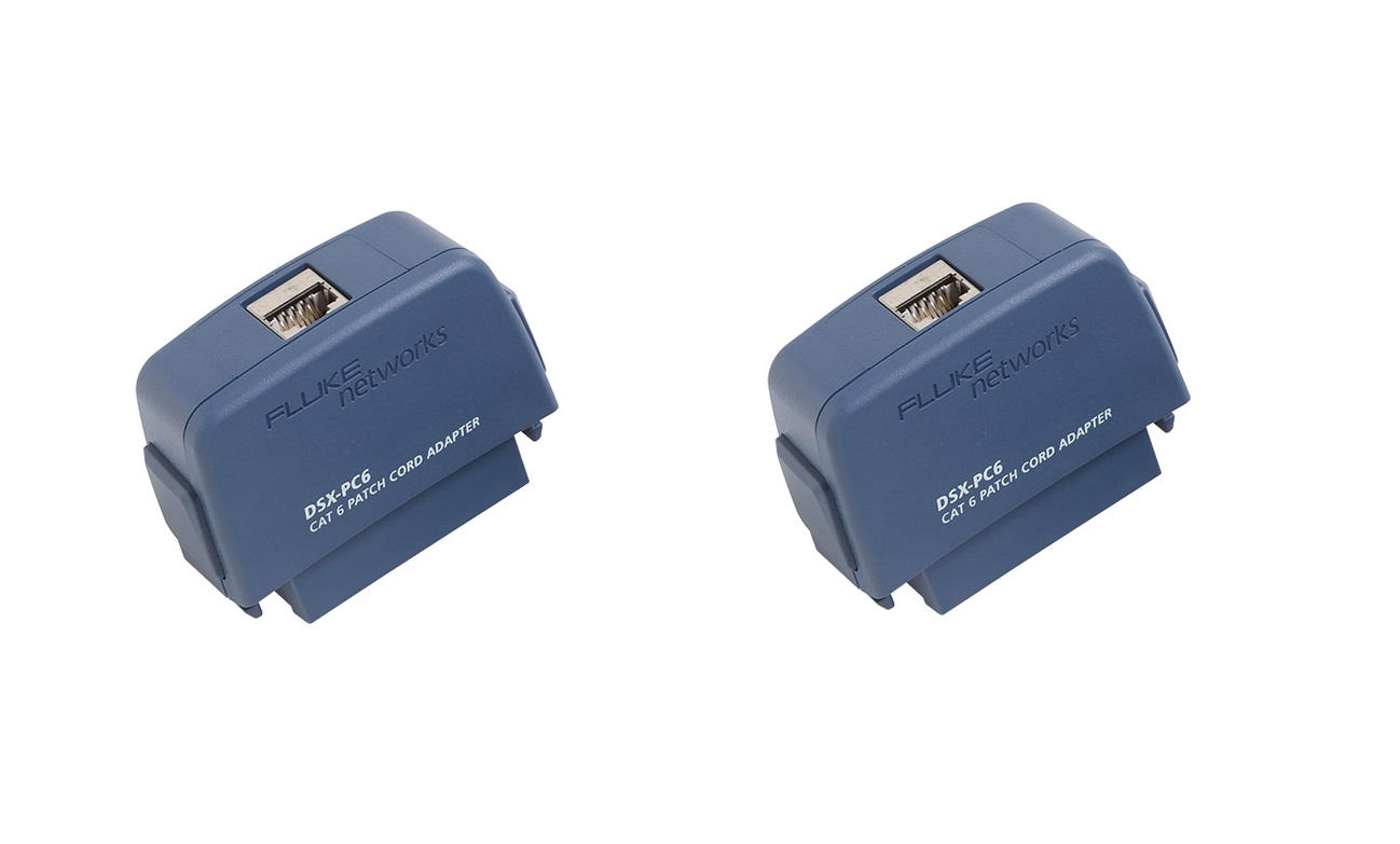 Fluke Dsx Patch Cord Test Network Tester Interface Adapters Pack Of 2 DSX-PC6S