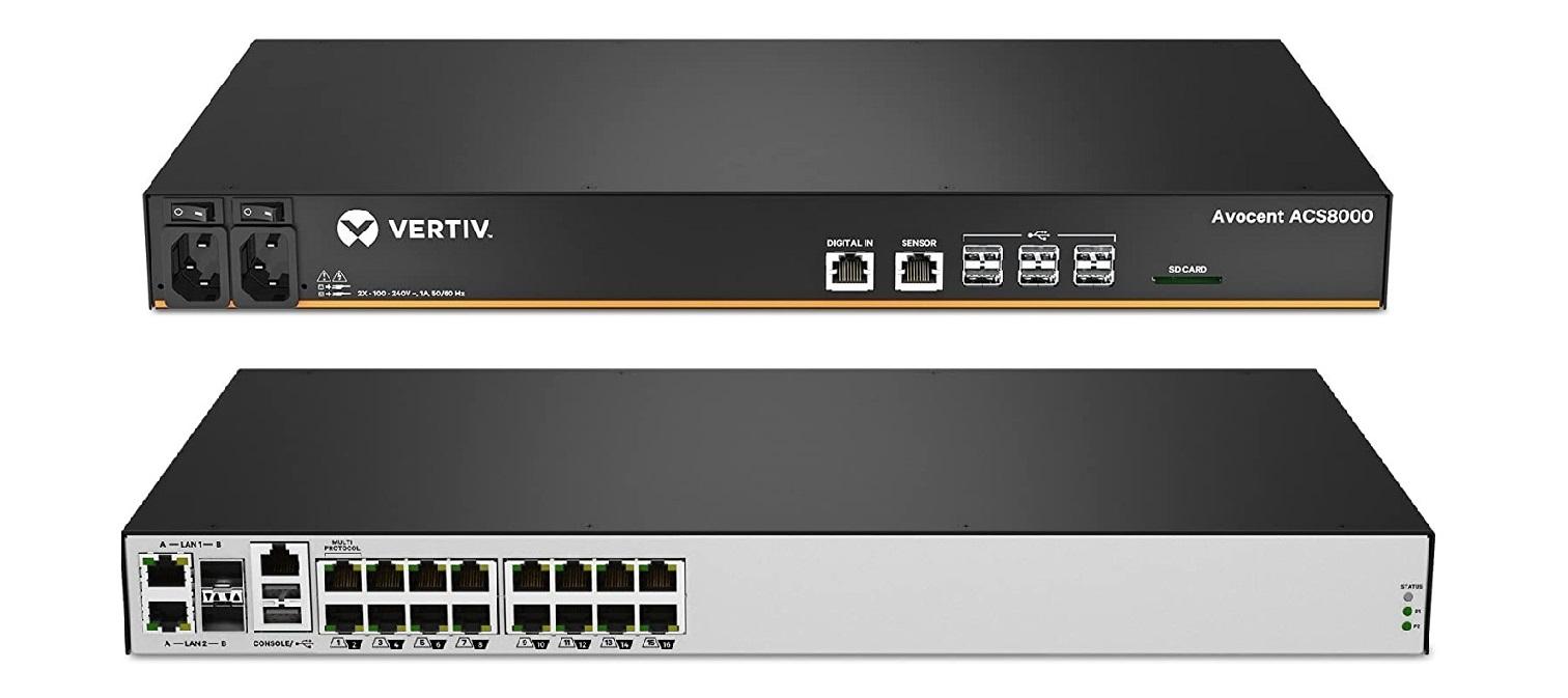 Avocent Vertiv ACS 8000 16-Ports Console Server Dual Power Supply 1U ACS8016DAC-400