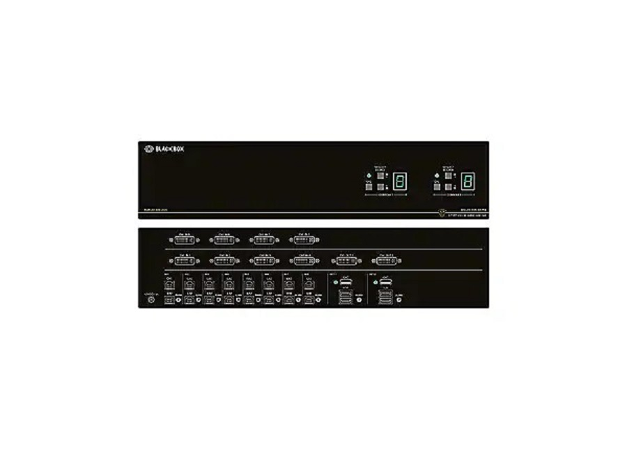 Black Box Secure Niap 8-Ports Kvm Audio Switch SS8P-DVI-8X2-UCAC