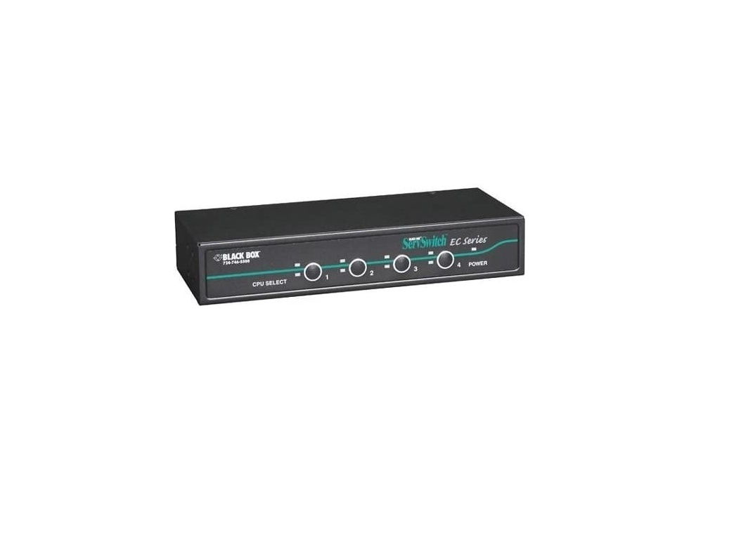 Black Box EC Series KVM Switch For PS/2 or USB Servers and USB Consoles 4-Ports KV9204A