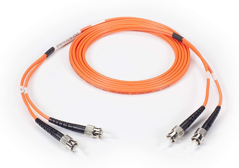 Black Box Fiber Optic MultiMode Patch Cable 65.6ft EFN110-020M-STST