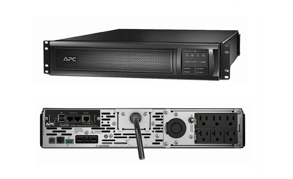 APC Smart-UPS With Network Card 1920VA 1800Watts 120V 2U Tower Rack Mountable SMX2000RMLV2UNC UPS External