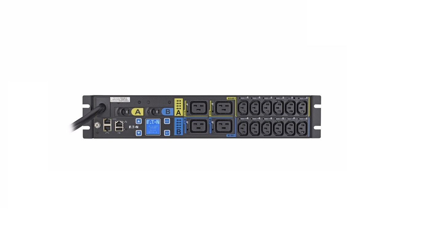 Eaton Epdu L6-30P Input 12x C13 4x C19-out 2U Managed Rack PDU EMAU06-10