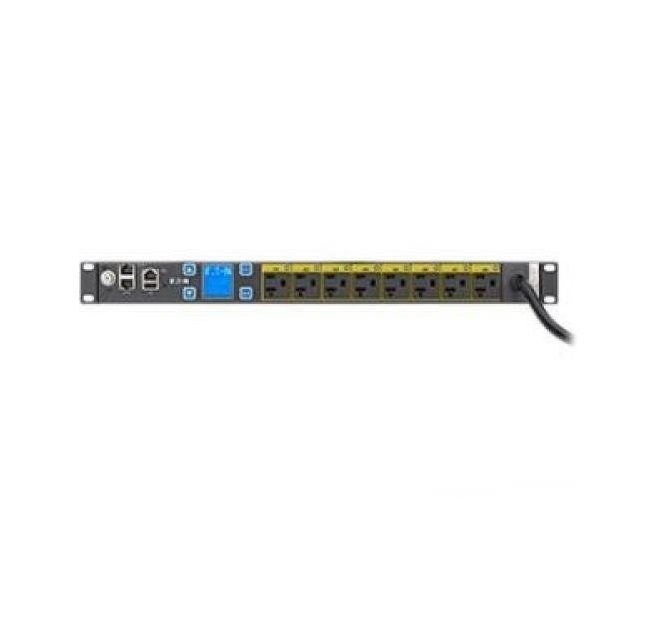 Eaton Power Single-phase 1.44kW 120V 12A 8-out 5-20R 10ft Cord Managed Rack PDU EMAT09-10