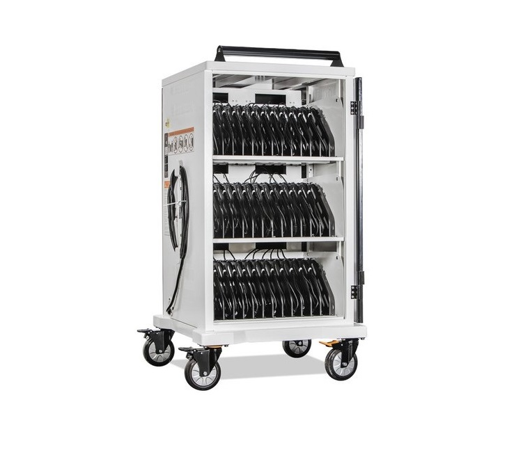 Anywhere AC-MAX Blemished Secure Cart Charging System For 36 Laptops Up To 17 White AC-MAX