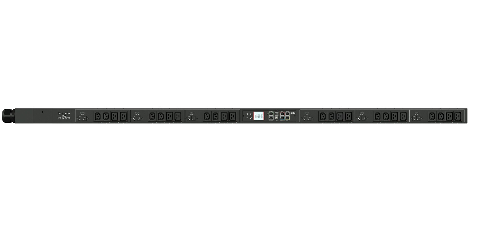 Raritan 17.3kVA 208V 24x Outlets 12xC13 12xC19 0U Rack Power Distribution Unit PX3-5551V-V2 PX35551VV2