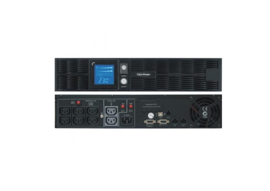 Cyberpower Smart APP Sinewave 1000VA 900W 220V 8-out 2U Rack Tower UPS PR1000ELCDRT2U