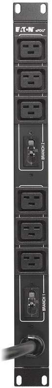 Eaton EPBZ94 4.99 KW 208-240V 24A L6-30P 6xC19 Basic 1U Rack Single-phase PDU