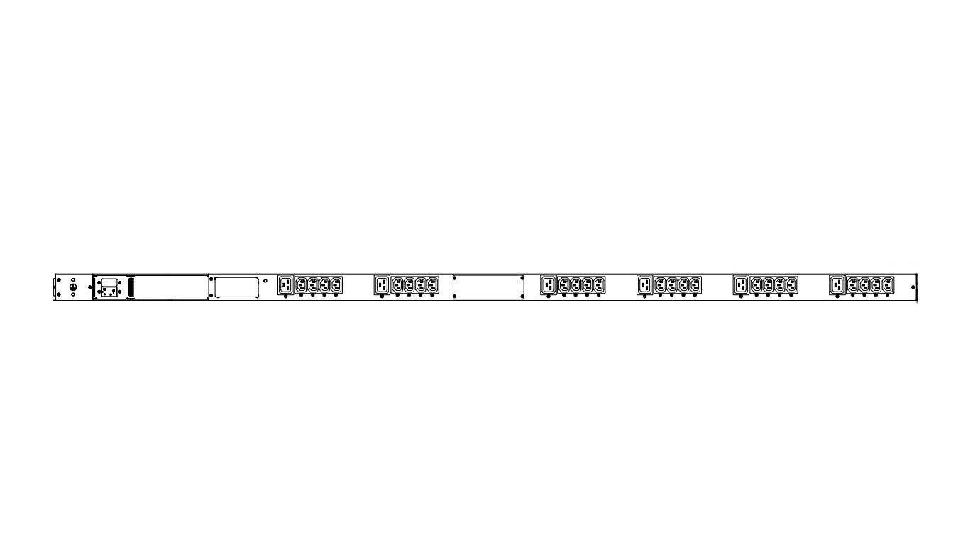 CPi 20A 24xC13 6xC19 120-240V Single Phase PDU P1-1A1E3