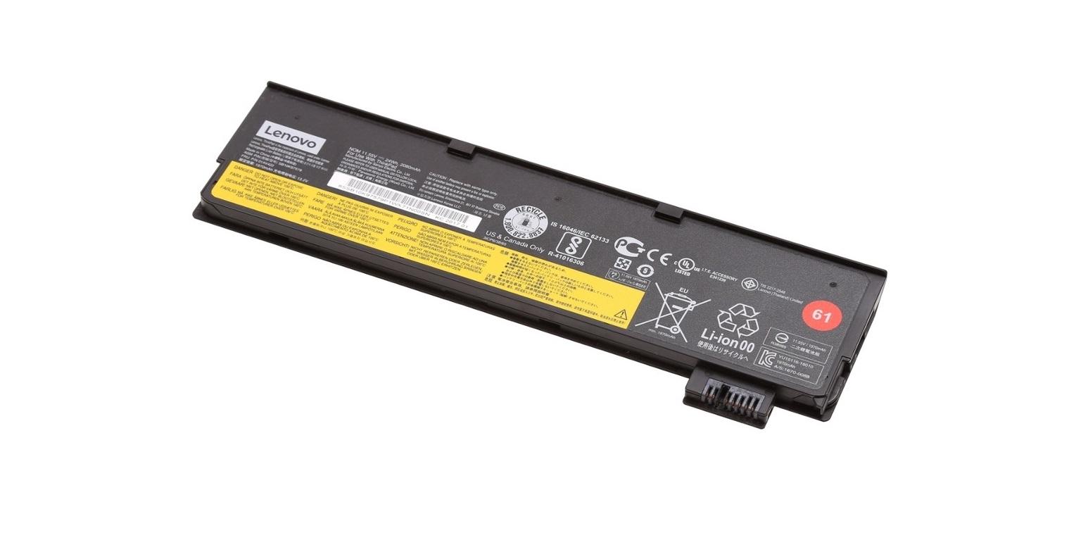 24 Wh Genuine Lenovo Li-Ion Battery 11.46V 2040mAh For ThinkPad Battery 4X50M08810