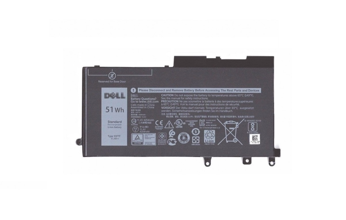 Dell Genuine 451-BBZT 51WHr 3-Cell Primary Li-Ion Battery 451BBZT