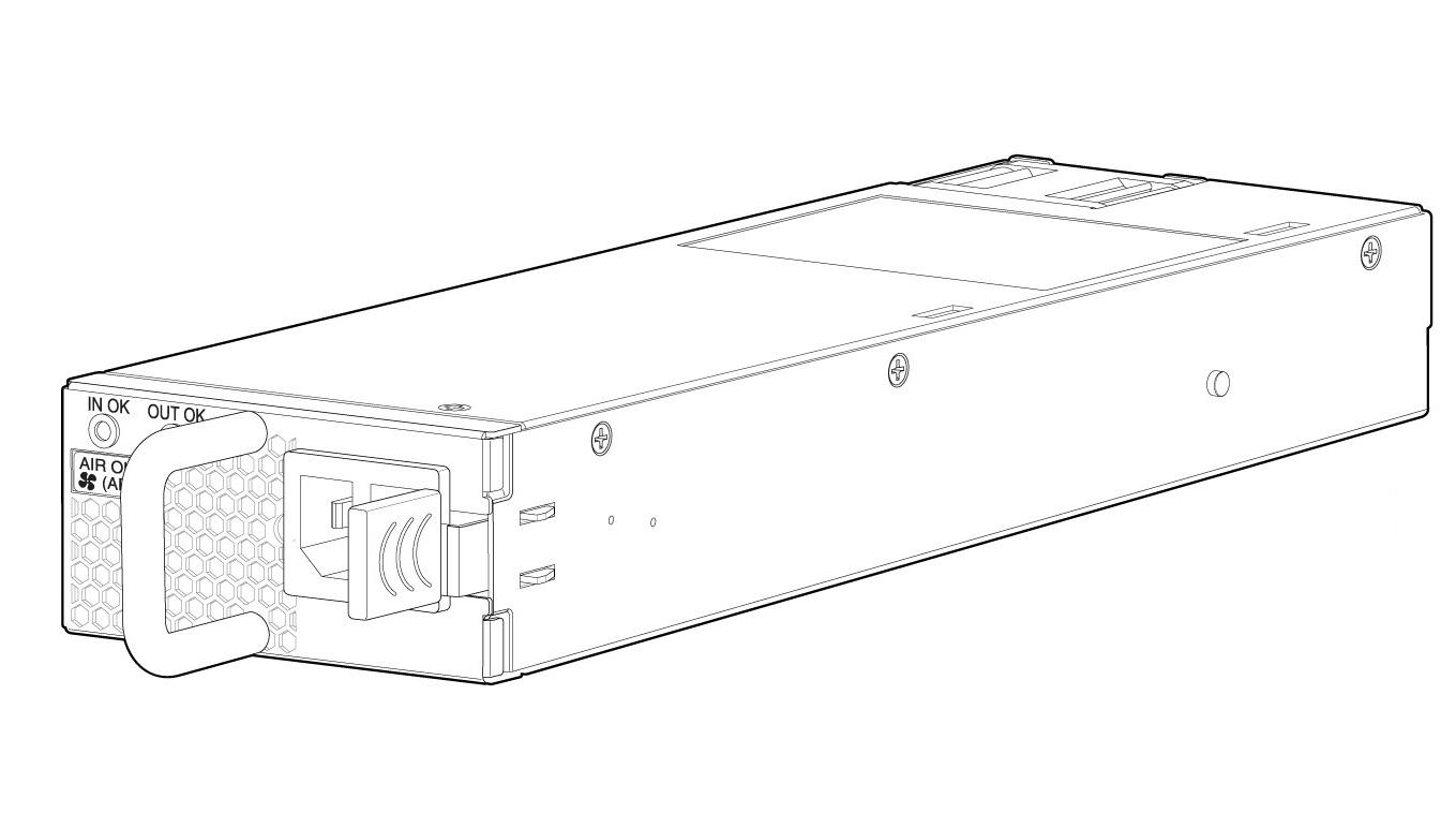Juniper 550W JPSU-550-DC-AFO Hot-Plug Power Supply For Ex Series EX4300