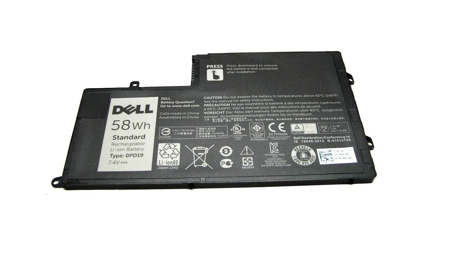 Genuine Dell 58 Wh7.4 V 4-Cell Primary Li-Ion Battery 451-BBLX Latitude 3450 3550 Inspiron 15 5000 Series