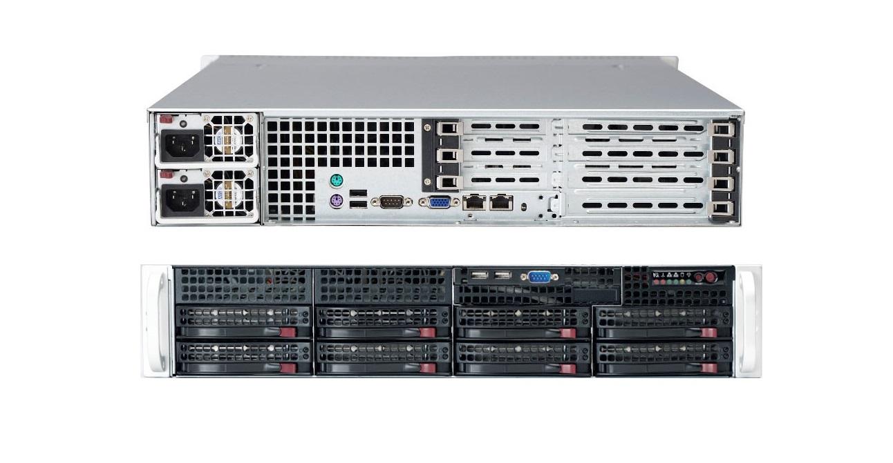 Supermicro Superserver Intel 5520 Chipset Dual Socket LGA1366 2x 720W Barebone System Black SYS-6026T-URF