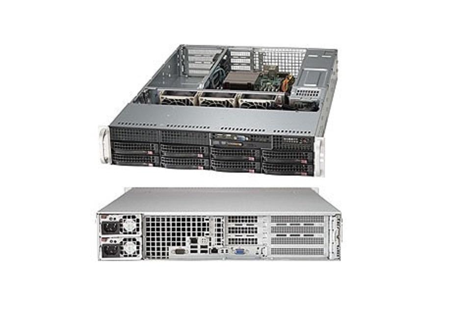 Generic Supermicro Superserver Single Socket LGA2011 2x 500W (No Cpu Hdd) 2U Server Barebone System Black SYS-5027R-WRF