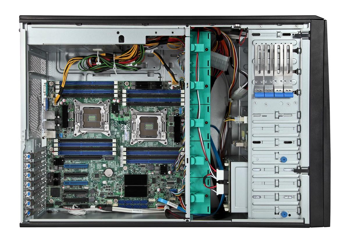 Intel Server Board S2600CP4 8-Bays 3.5 2x 750W P/S 4U Pedestal System Barebone P4308CP4MHGC