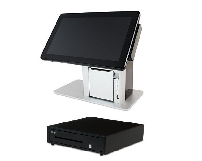 POS-X Vivonet TP5 All-in-One Pos System Bundle With 14in TouchScreen Cash Drawer Z-TP5E-Z2T5-51A-D