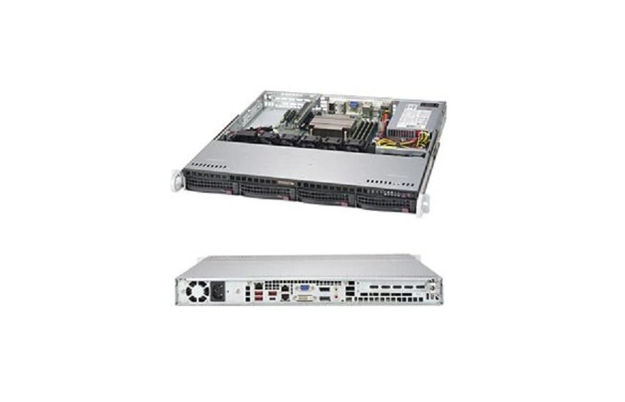 Supermicro Barebone Systems w/Motherboard No Cpu Hdd 0-RAM 1x P/S 1U Rack-mountable SYS-5019C-MHN2