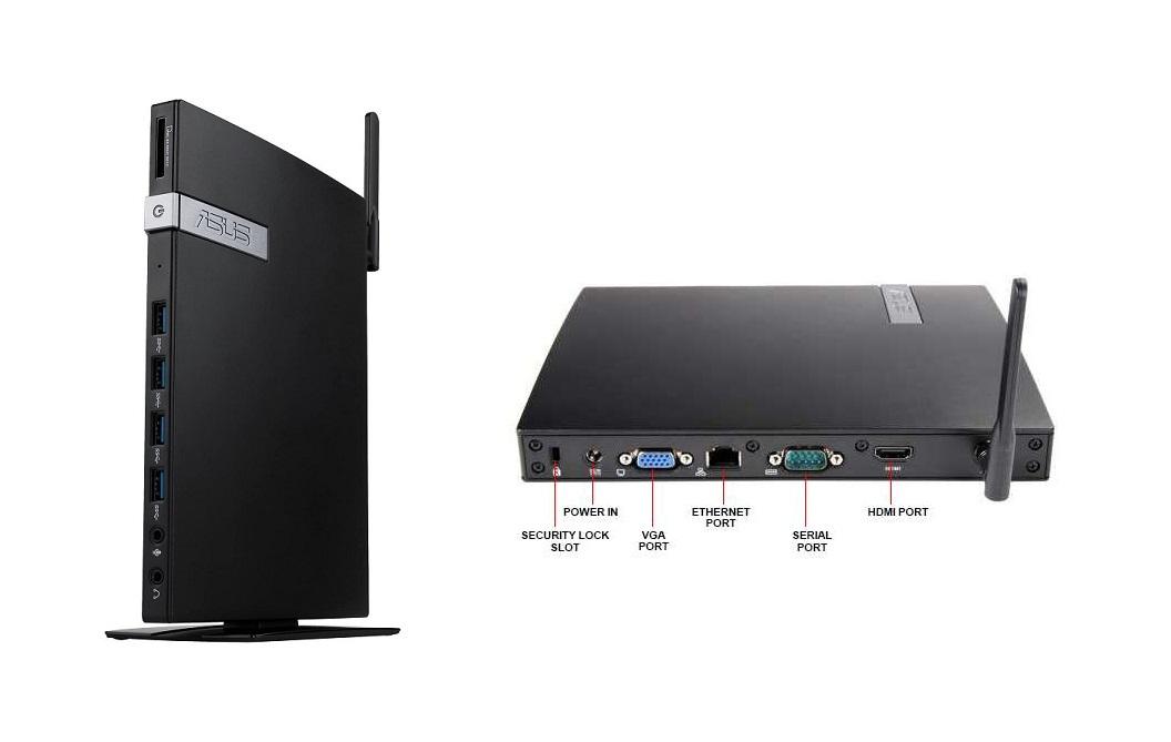 Asus E420 Intel Celeron 3865U 1.8GHz No Ram Hdd Barebone Mini Pc E420-BB060M