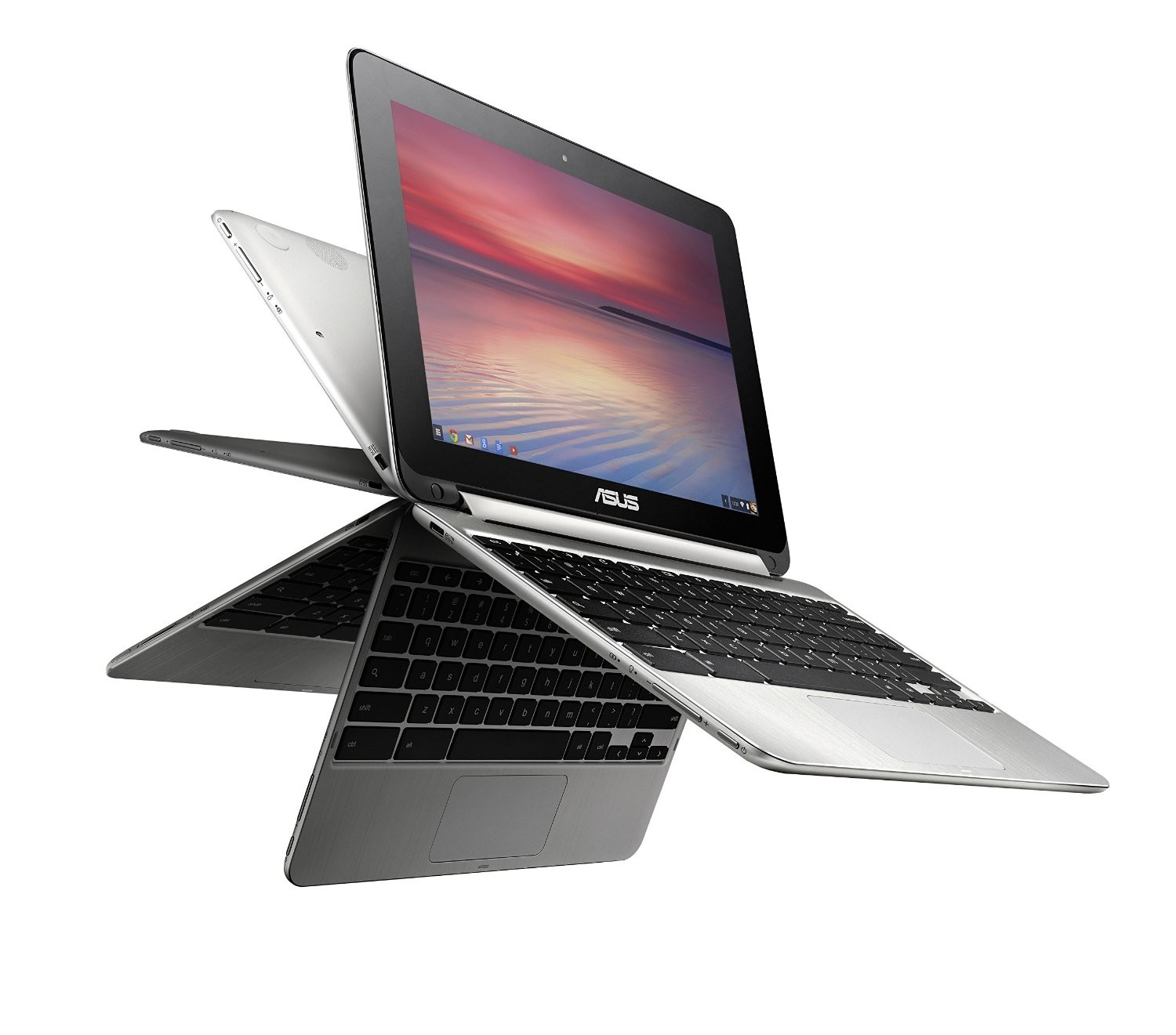 Asus Chromebook Flip Rockchip 3288-C Quad Core 1.8GHz 4GB 16GB Ssd Webcam 10.1 Touch Chromeos C100PA-DB02
