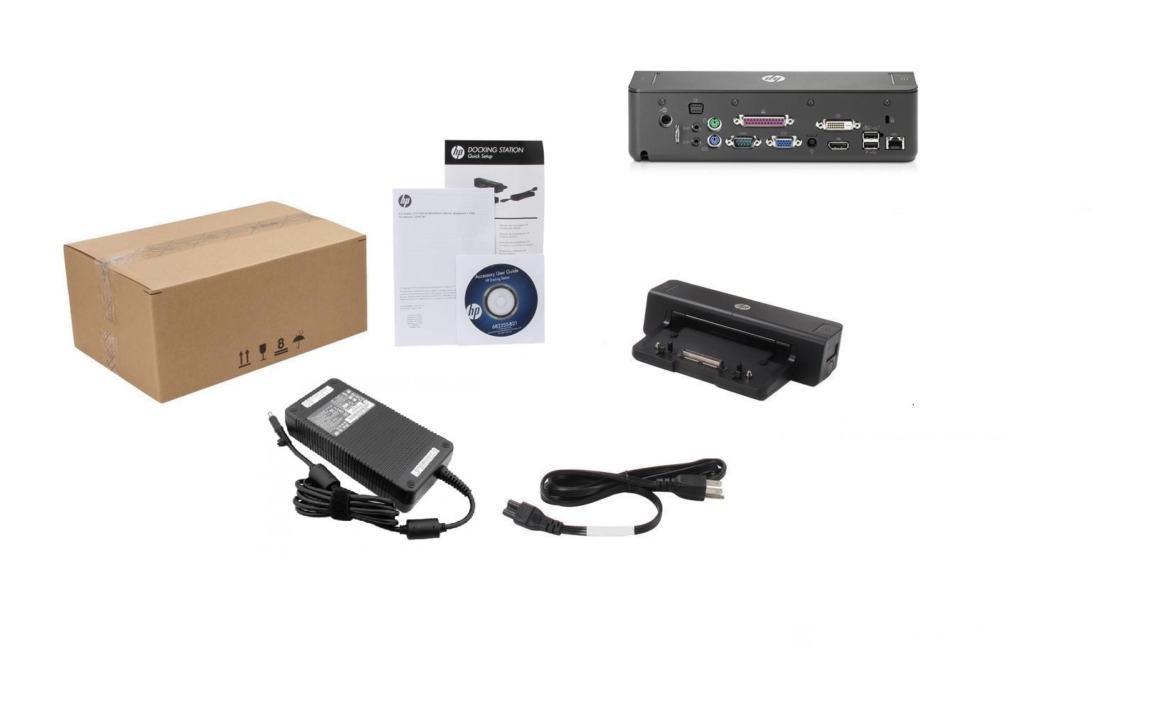 HP 2012 230W Docking Station For Notebook A7E34AA Brand New