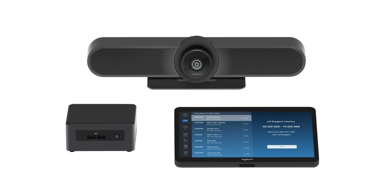 Logitech TAP Room Small Video Conferencing Kit With Intel Nuc and Logitech Meetup HD Tapzoomsmall