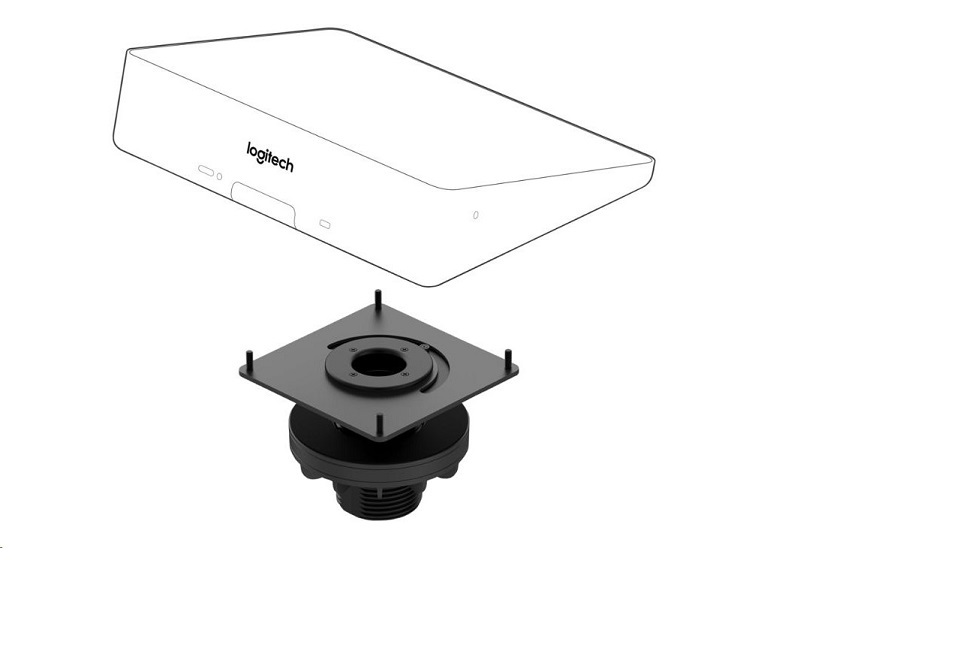 Logitech TAP Table Mount Video Conferencing Controller Mounting Kit 939-001811
