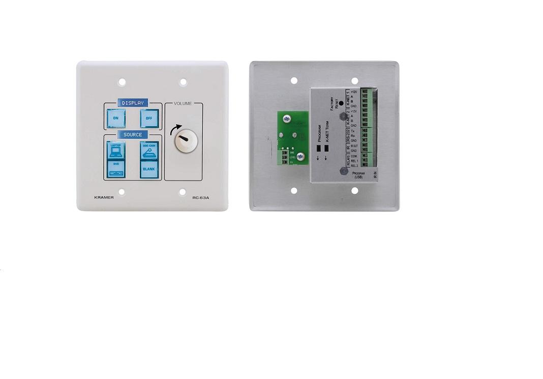 Kramer RC-63A(W) 6BTN Room Controller W Analog Volume Knob White KME-RC-63A