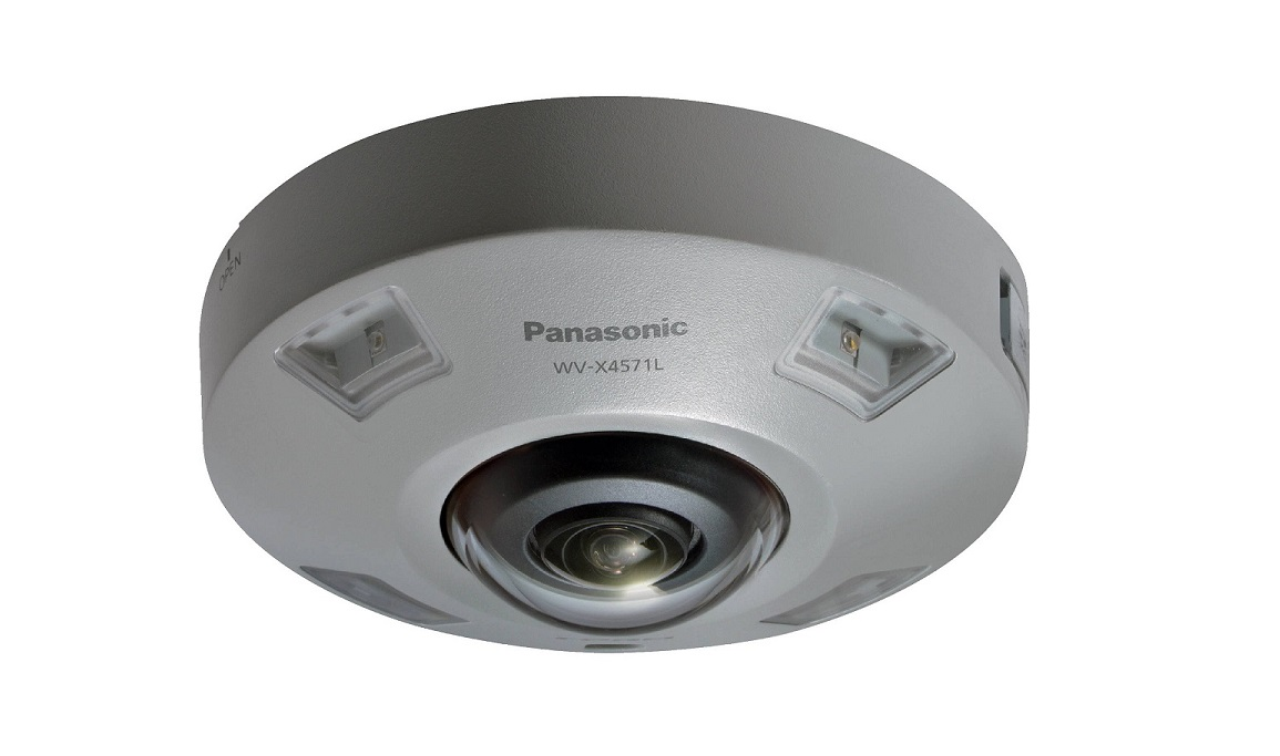Panasonic WVX4571LM 9MP 360 Degree M12 Connector Outdoor Dome Camera WV-X4571LM