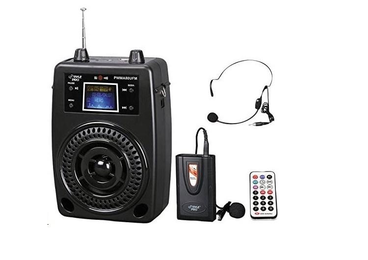 Pyle Pro Portable PA 100w Wireless System PWMA80UFM