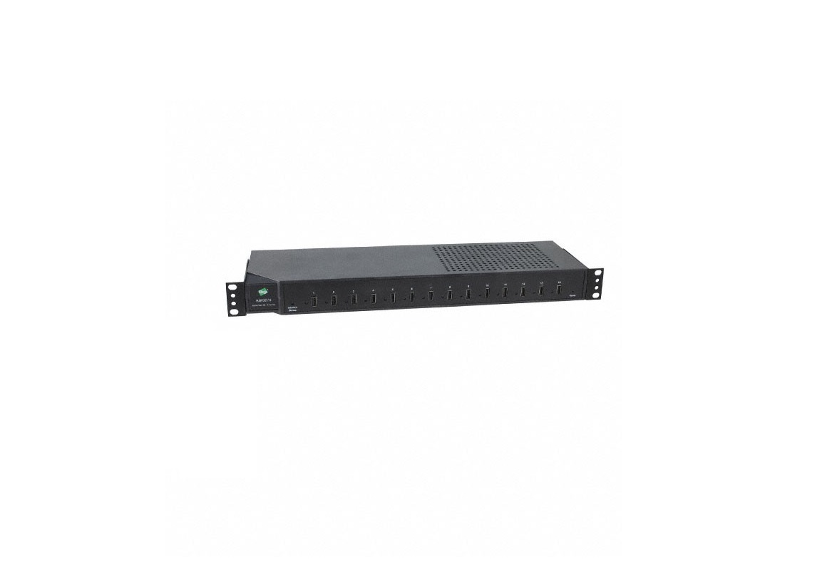 Digi HP-USB-14 14x USB 2.0-Ports 1U Rack Mount Hubport Black
