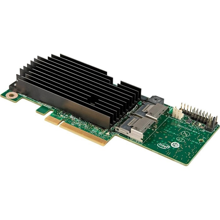 Intel 8-Ports SAS RAID Controller PCI Express 2.0 x8 Plug-in Card RMS25KB080 With High/Low Profile Bracket G35828-311