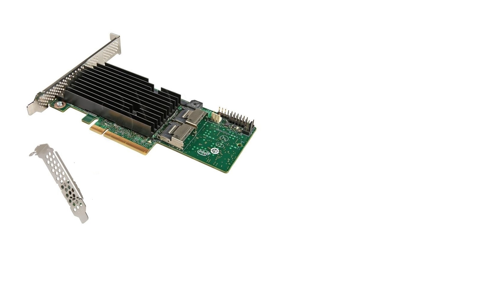 Lot of 20pcs Intel 8-Ports SAS Controller Serial Attached SCSI PCI Express 2.0 x8 Plug-in Card RAID RMS25PB080-20-Pack