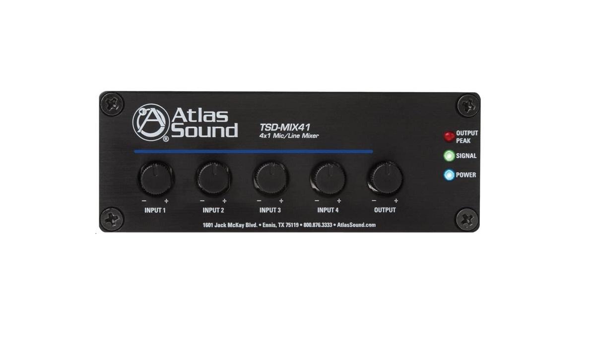Atlassound Atlas Sound 4 X 1 Mic/line Mixer Tsd-mix41