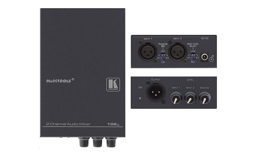 Kramer Electronics 102XL 2-Channel Balanced Mono Audio Mixer 70300090