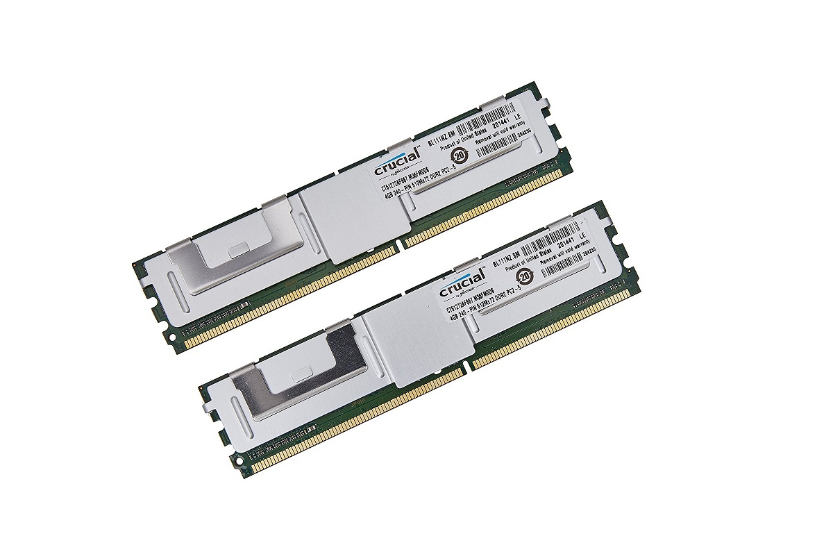 8GB (2x4GB) DDR2 Crucial Technology PC2-5300 667MHz ECC 240pin CL5 FB-DIMM CT2KIT51272AF667