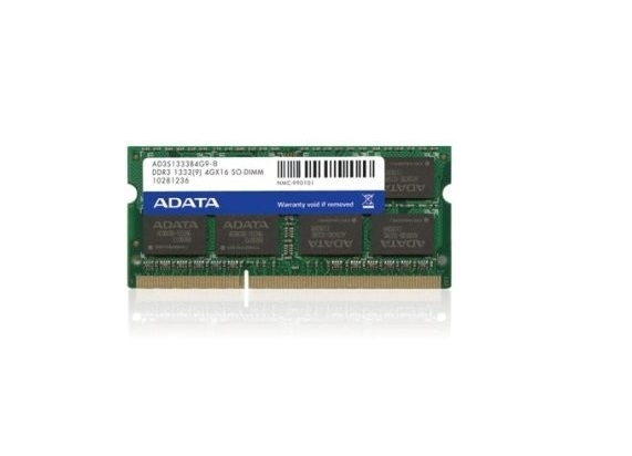 4GB ELO E581416 DDR3 1333MHz SO-DIMM 204pin Non-ECC Memory