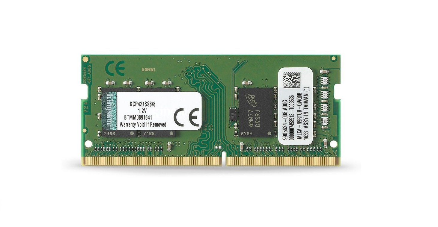 Kingston 8GB DDR4 2133MHz Sodimm Memory For Laptops KCP421SS8/8