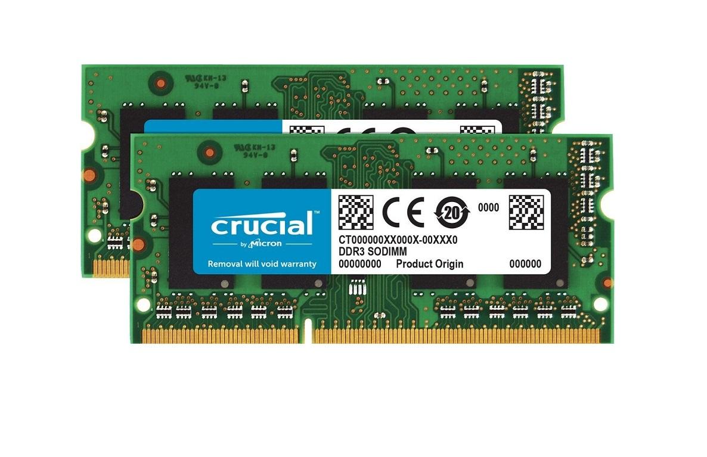Crucial 16GB (2x8GB) DDR3 1866MHz (PC3-14900) CL13 Non-ECC Sodimm 204pin CT2KIT102464BF186D
